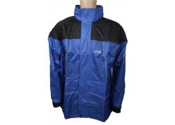 Regenjas de Luxe black/blue XL